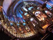 Basílica de Notre Dame em Montreal Imagens de Stock