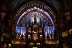 Basílica de Notre Dame en Montreal Imagen de archivo libre de regalías