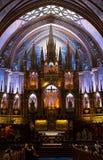 Basílica de Notre Dame en Montreal Fotografía de archivo libre de regalías