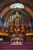 Basílica de Notre Dame en Montreal Fotografía de archivo