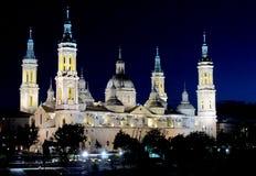 Basílica de nuestra señora del pilar en Zaragoza fotografía de archivo