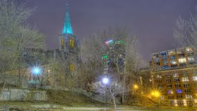 Basílica de Patricks del santo en Montreal Canadá foto de archivo libre de regalías