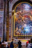 Basílica de Peter interno de Saint fotografia de stock