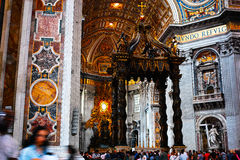Basílica de Peter interno de Saint fotografia de stock royalty free