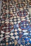 Basílica de piedra del piso del mosaico de Santa Maria en Ara Coeli imagenes de archivo
