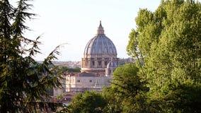 Basílica de Roma StPeters almacen de metraje de vídeo