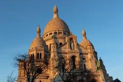 Basílica de Sacré Coeur em Mont Martre em Paris Foto de Stock Royalty Free