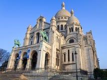 Basílica de Sacre-Coeur em Montmartre, Paris. Imagens de Stock Royalty Free