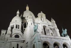 A basílica de Sacre Coeur em Montmartre, Paris Fotos de Stock Royalty Free