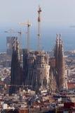 Basílica de Sagrada Familia do La por Antonio Gaudà Imagem de Stock Royalty Free