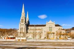 A basílica de Sainte Anne de Beaupre em Quebeque, Canadá Fotografia de Stock Royalty Free