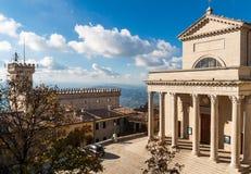 Basílica de San Marino fotografia de stock