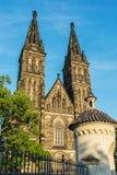 Basílica de San Pedro y de Saint Paul, Vysehrad en Praga Fotografía de archivo libre de regalías