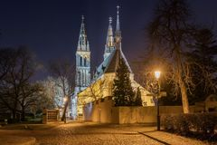 Basílica de San Pedro y de San Pablo en Vysehrad, Praga, Fotos de archivo