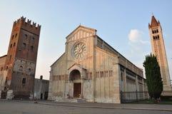 Basílica de San Zeno, Verona foto de archivo libre de regalías