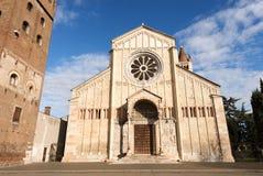 Basílica de San Zeno - Verona Italy Imagenes de archivo