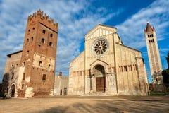 Basílica de San Zeno - Verona Italy Foto de archivo