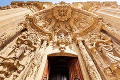Basílica de Santa María del Coro en San Sebastian foto de archivo libre de regalías