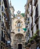 Basílica de Santa Maria del Coro em San Sebastian - Donostia, Espanha fotos de stock