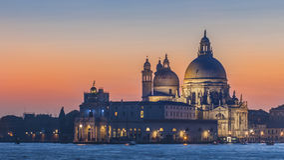 Basílica de Santa Maria della Salute, Veneza Fotografia de Stock Royalty Free