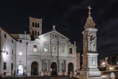 Basílica de St Bartholomew en la isla, Roma Fotos de archivo