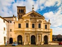 Basílica de St Bartholomew en Roma, Italia Imagen de archivo