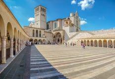 Basílica de St Francis de Assisi, Assisi, Umbría, Italia Foto de archivo libre de regalías