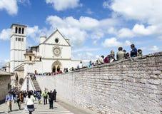 Basílica de St Francis de Assisi en Assisi, Umbría, Italia Foto de archivo