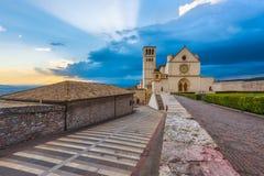 Basílica de St Francis en Assis, i en Umbría, Italia Imagenes de archivo