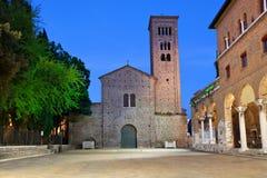 Basílica de St Francis por la tarde, Ravena Fotos de archivo