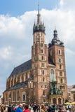 A basílica de St Mary em Krakow Imagem de Stock