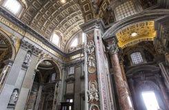 Basílica de St Peter, Cidade do Vaticano, Vaticano Fotos de Stock Royalty Free