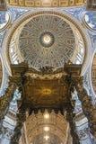 A basílica de St Peter (para dentro) Imagens de Stock