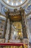 A basílica de St Peter (para dentro) Imagem de Stock Royalty Free