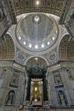 Basílica de St Peters, Vaticano Imagens de Stock