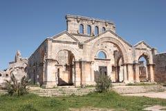 Basílica de St Simeon (Qala'at Samaan) Fotografía de archivo