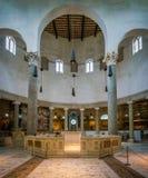 Basílica de St Stephen no círculo em Celian Hill em Roma, Itália fotografia de stock royalty free