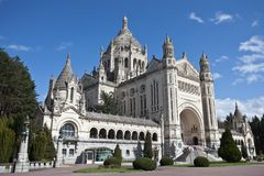 Basílica de St. Therese de Lisieux France Foto de Stock Royalty Free