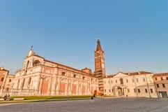 Basílica de StBenedict y abadía de Polirone en San Benedetto Po, Italia Fotos de archivo libres de regalías