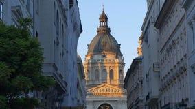 Basílica de Stephen de Saint em Budapest video estoque