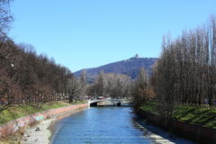Basílica de Superga en la colina de Turín, Italia Foto de archivo