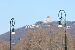 Basílica de Superga en la colina de Turín, Italia Imagen de archivo