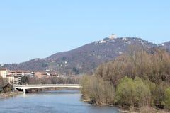 Basílica de Superga en la colina de Turín, Italia Foto de archivo libre de regalías