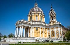 Basílica de Superga, Turin, Itália fotografia de stock royalty free