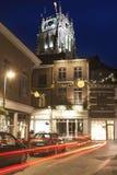 Basílica de Tongeren en la noche Imagen de archivo libre de regalías