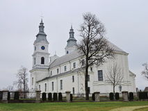 Basílica de Zemaiciu Kalvarija, Lituânia fotografia de stock royalty free