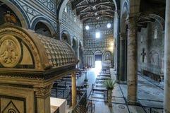 Basílica del al Monte de San Miniato Fotos de archivo libres de regalías