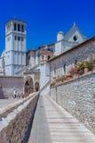 Basílica del ` Assisi de San Francisco d en Assisi, Italia foto de archivo libre de regalías