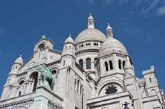 Basílica del corazón sagrado de Jesús de París imagenes de archivo