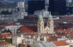 Basílica del corazón sagrado de Jesús en Zagreb Imágenes de archivo libres de regalías